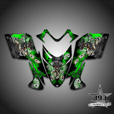 Polaris IQ RMK Shift Dragon Graphics Decal Wrap 2005-2012 Cowboy Outlaw Green