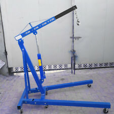 Folding Engine Stand Hoists Lift Jack Crane Adjustable Blue 1Ton Tonne Capacity