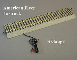 """LIONEL AMERICAN FLYER FASTRACK 10"""" TERMINAL STRAIGHT TRACK S GAUGE train 6-49854"""