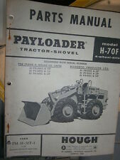 Hough H70F chargeur payloader 1975 : parts catalog