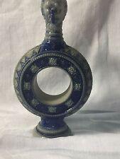 Vintage pre-1900 German  Saltglazed Stoneware Cobalt Wine Ewer with Gargoyle