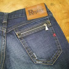 "Replay WV 497,032 Slim Fit Denim Jeans Faded Blue 28"" Waist 32"" Leg 10UK"