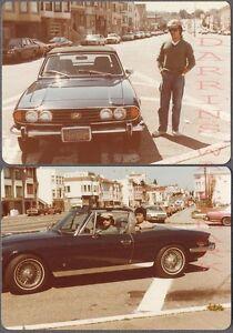 Vintage Photos Men w/ 1970s Triumph Stag Convertible Sports Car 730310
