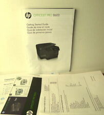 HP Officejet Pro 8600 Getting Started Guide Instructions