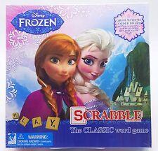 Disney Frozen Elsa Anna Scrabble Game 2 Side Board Beginner + Classic 2-4 Player