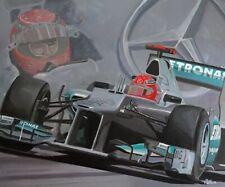 Art card 2012 Mercedes F1 W03 #7 Michael Schumacher (GER) by Toon Nagtegaal