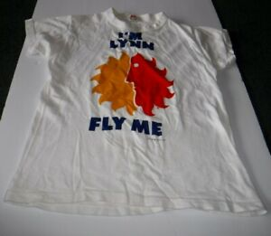 Vintage 1970's I'M LYNN FLY ME T-Shirt National Airlines 100% Cotton Sun King
