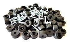 "50pcs PA Guitar,Bass Guitar Speaker Cabinet,Amp Rubber Feet 1"" Dia * 9/16"" Ht"