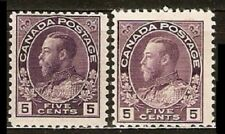 Canada Sc 112 112a by 2  MINT NH  VF