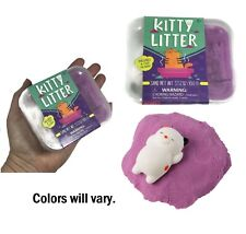 Kitty Litter Play Set Squishy Cat with Mold-able Sand