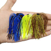 10 Bundles 50 Strands Silicone Skirts Fishing Skirt Rubber Jig Lure Random TOP