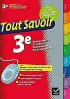 Tout Savoir 3eme Por Ediciones Hatier (Libro en Rústica, 2012)