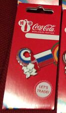 London 2012 Olimpiadi Coca Cola Russia Bandiera Pin Badge
