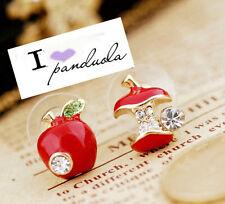 Shiny Disney Snow White Evil Queen Red Apple Earring/ Studs Women Gift