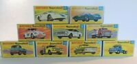 Matchbox Lesney Superfast / Special lot  9 X Empty Repro Box style G