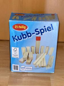 Wikingerspiel Kubb-Spiel Gechicklichkeitsspiel aus FSC® Holz, 21-teilig, Garten