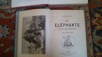 Eléphants, état sauvage, domestication.  Cherville (Gaspard de)  Les