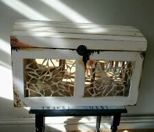 Beautiful Hand decorated white chest, angels motiff | halloween,spooky decoupage