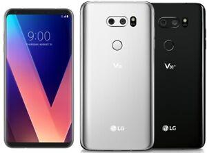 LG V30 H931 GSM Factory Unlocked 64GB Smartphone Silver Or Black - Excellent