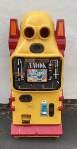 A-Mok 1981 Vending Arcade Machine RARE Not Working Fully