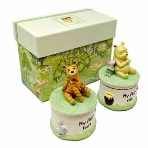Disney Winnie The Pooh First Tooth & Curl Set New Baby Gift Shower Christening