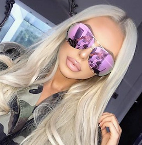 "MIRROR ""Posche"" OVERSIZED Women Sunglasses Aviator Flat Top Square Shadz GAFAS"