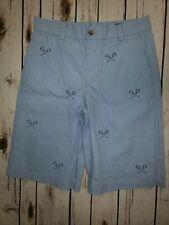 Vineyard Vines Boys Size 16 Lacrosse Stick Embroidered Light Blue Shorts