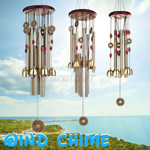 New Listing2X Wind Chime Garden Outdoor Noisemaker Bell Pavilion Copper Coins Garde