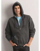 Gildan Heavy Blend Full Zip Hooded Sweatshirt Size S-5XL 17 colors Zipped Hoodie