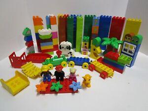 LEGO Duplo Building Blocks LOT of 201 Blocks, People, Animals, Cars (lot 1)