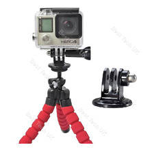 Red SJCAM Action Camera Flexible Tripod Gorilla Octopus Mount Stand - UNC 1/4-20