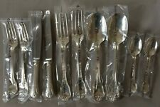 SET Christofle PORT ROYAL Silver-plate Table Diner Forks Spoons Knives Knife NEW