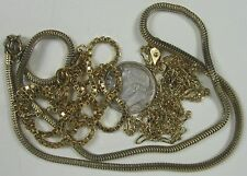 "Lot of 3 Vintage Necklaces~Square & Odd Shaped Goldtone 18"" Long Avon"