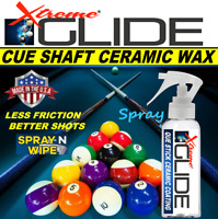 BILLIARDS CUE STICK SHAFT WAX CERAMIC COATING SILKY SMOOTH -PROFESSIONAL RESULTS