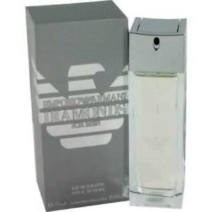 Emporio Armani Diamonds Mens 75ml Eau De Toilette Spray Brand New Sealed Box