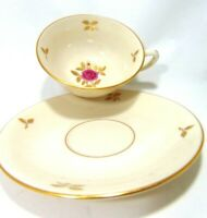LENOX CHINA - RHODORA tea cup and saucer set Excellent