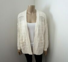 NWT Abercrombie & Fitch Womens Knit Pointelle Cardigan Size Small Sweater Cream