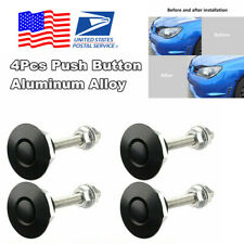 4Pcs 30mm Black Quik Release Latch Fastener Hood Push Button Billet Pins Lock US
