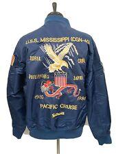Men`s Schott NYC MA-1 Nylon Flight Jacket 2XL Commemorative NEW $199 Blue
