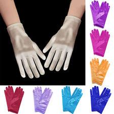 Womens Satin Gloves Bridal Short Gloves Princess Cosplay Accessory Wedding Glove