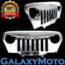 97-06 Jeep TJ Wrangler Chrome Plated Angry Bird Overlay Grille Shell Rubicon 4x4