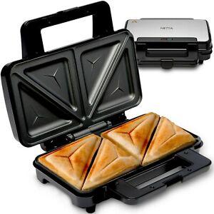 NETTA Deep Fill Toastie Maker 900W - Fit LARGE Bread - 2 Slice Sandwich Toaster