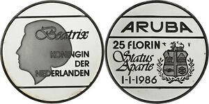 Aruba: 25 Florin silver 1986 - Proof