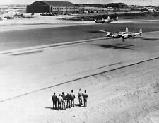 "P-38s Aircraft making a low level pass 8""x 10"" World War II WW2 Photo 498"