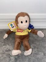 """8"""" Curious George Monkey Beanbag Plush Applause New Stuffed Animal Toy Doll Toy"""