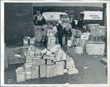 1946 Christmas Packages Swamp LaGuardia Airport NYC Press Photo