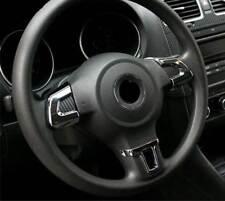 ALU Lenkrad Abdeckung Blenden Clip Chrom Carbon SET für VW Eos Tiguan Touran