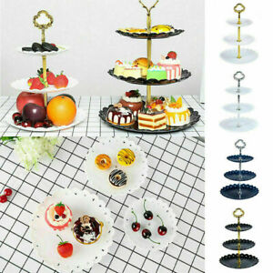 3-Tier Party Fruit Dessert Candy Dish Cup Cake Stand Wedding Event Display Tower
