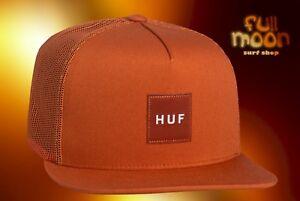 "HUF /""No Trace Volley/"" Clipback Hat Scarlet Men/'s Strapback Camper Cap"
