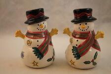 Sango Sweet Shoppe Christmas Salt & Pepper Shakers Holiday Snowmen Sue Zipkin